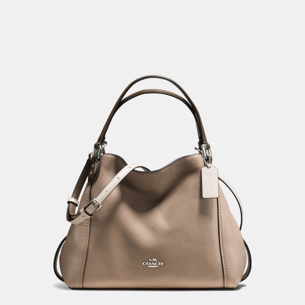 EDIE SHOULDER BAG 28 IN COLORBLOCK MIXED MATERIALS