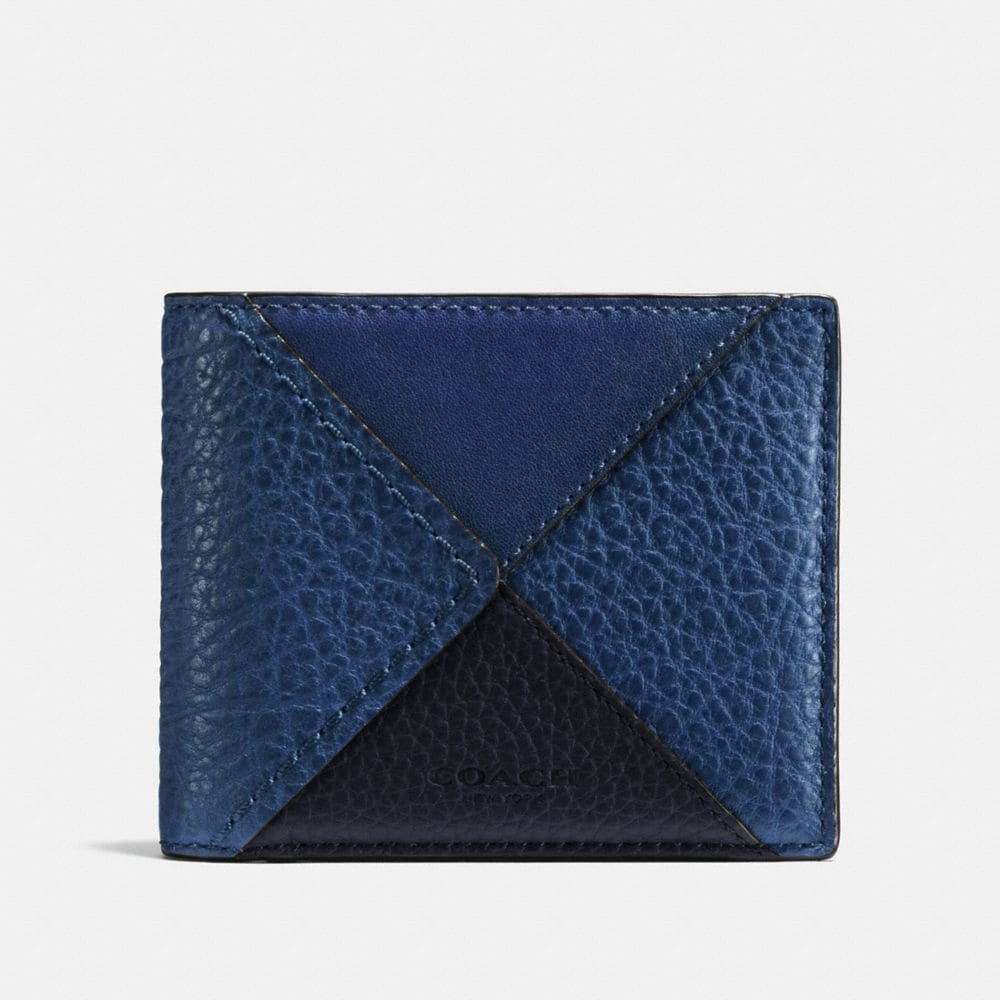 3-IN-1 WALLET IN CANYON QUILT BUFFALO-EMBOSSED LEATHER