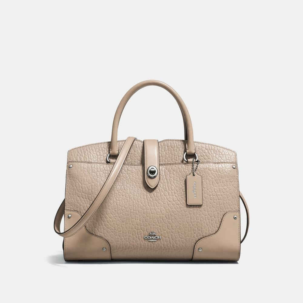 MERCER SATCHEL 30 IN MIXED LEATHERS