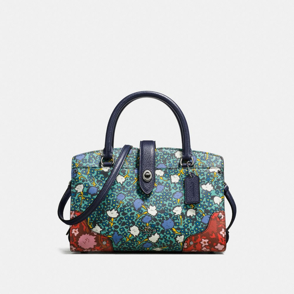 MERCER SATCHEL 24 WITH MULTI FLORAL PRINT