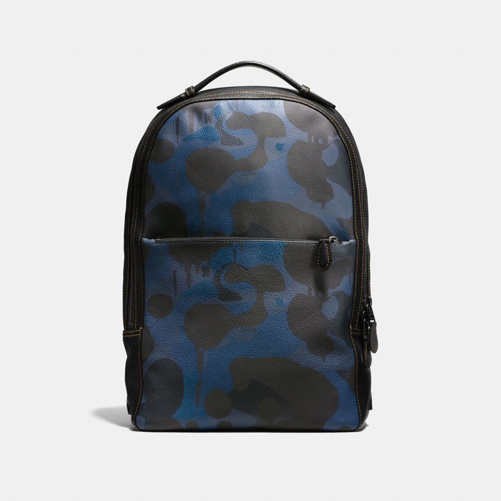 METROPOLITAN SOFT BACKPACK IN WILD BEAST PRINT LEATHER