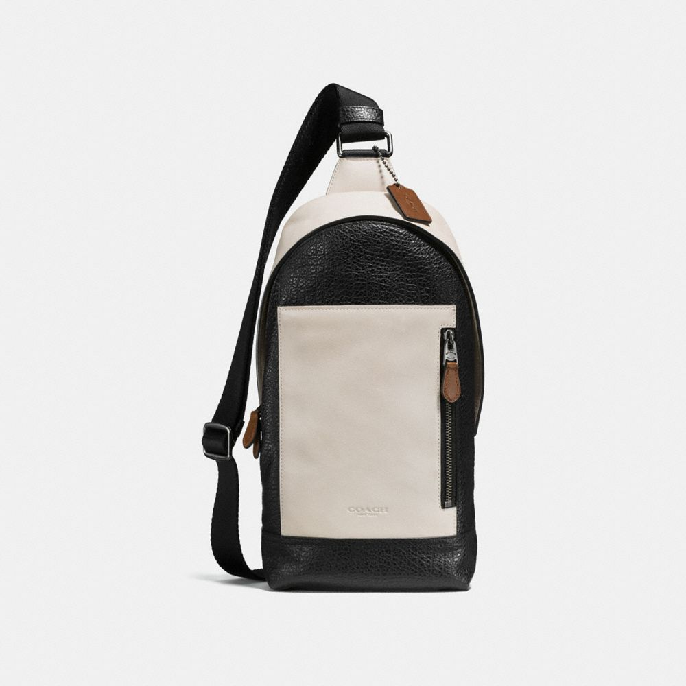MANHATTAN SLING PACK IN MIXED LEATHER