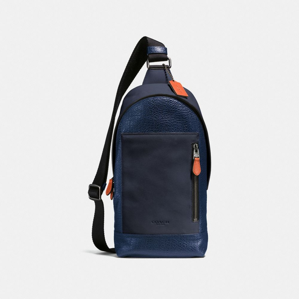MANHATTAN SLING PACK IN MIXED LEATHERS