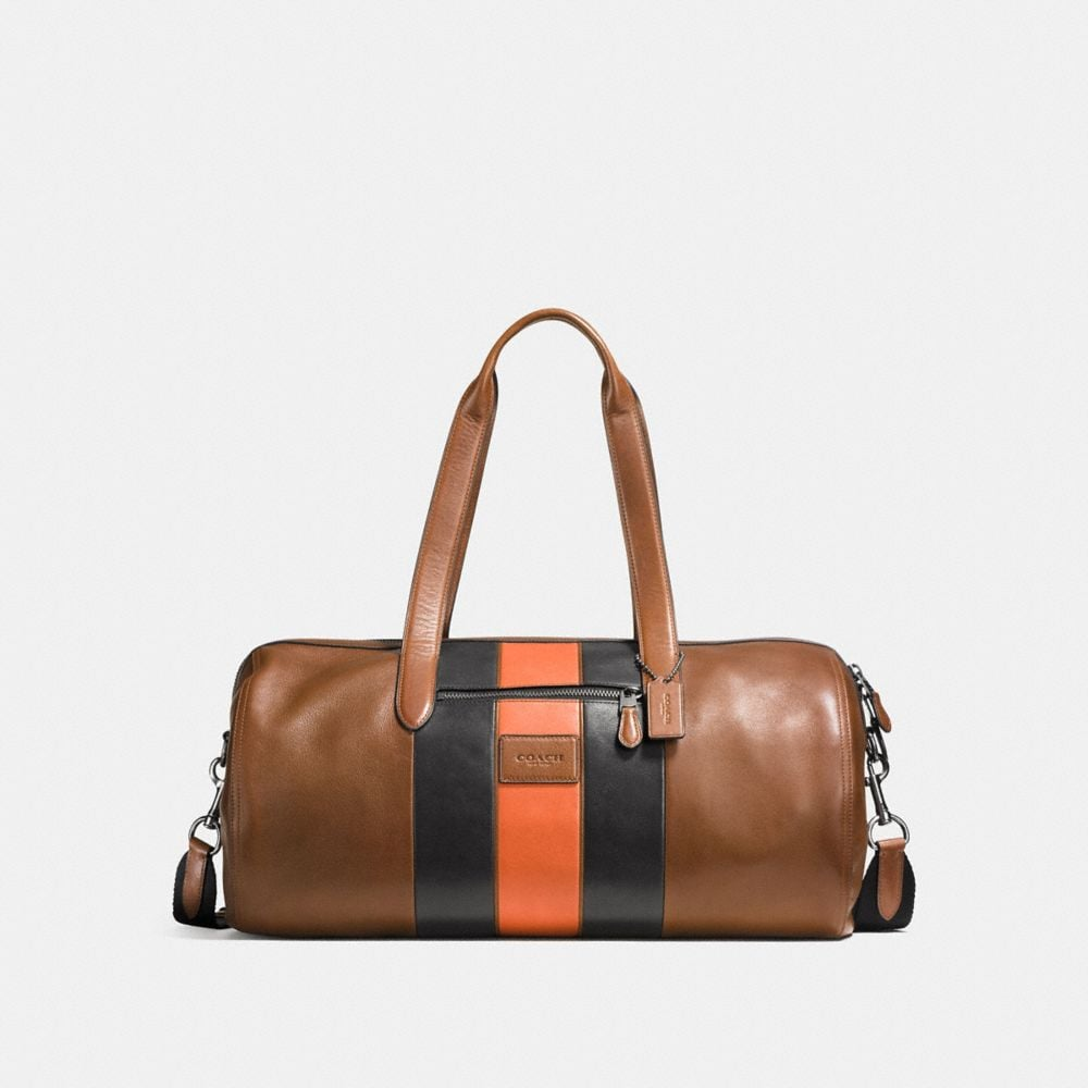 METROPOLITAN SOFT GYM BAG IN VARSITY STRIPE SPORT CALF LEATHER