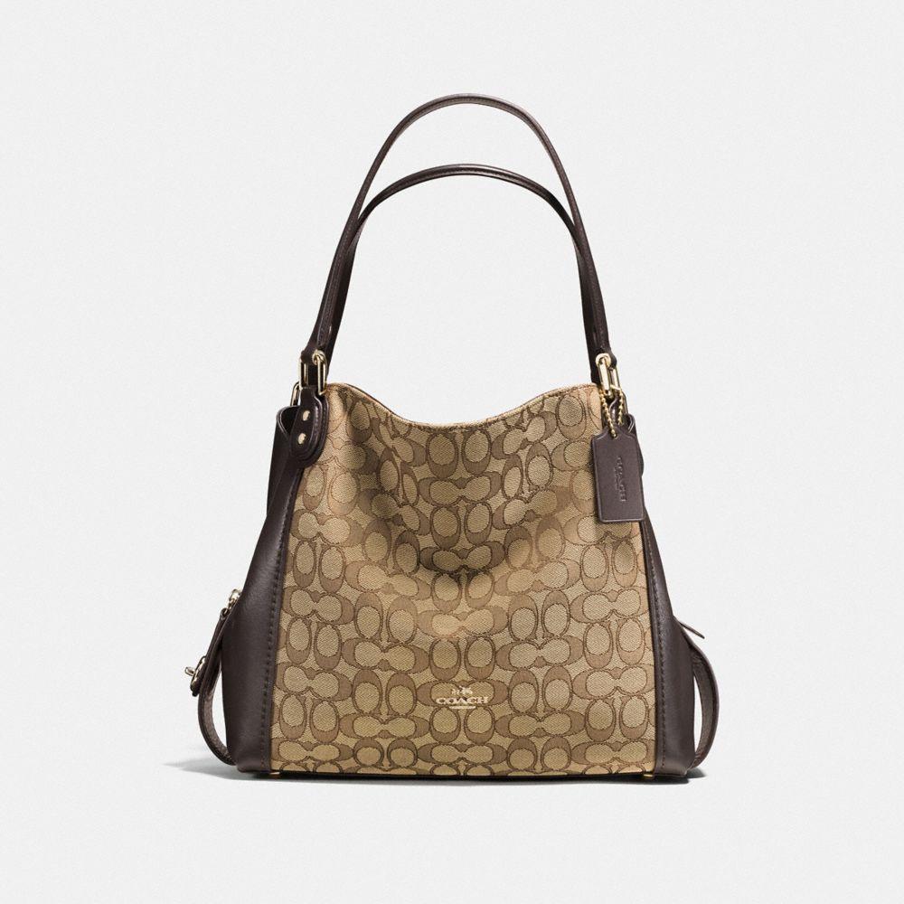 coach hobo handbags outlet g28b  EDIE SHOULDER BAG 31 IN SIGNATURE JACQUARD