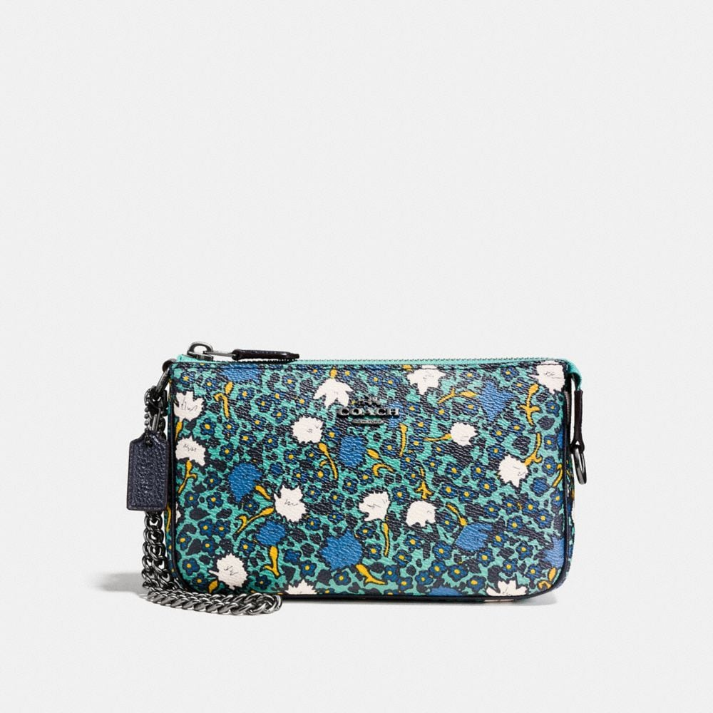 NOLITA WRISTLET 19 IN YANKEE FLORAL PRINT COATED CANVAS