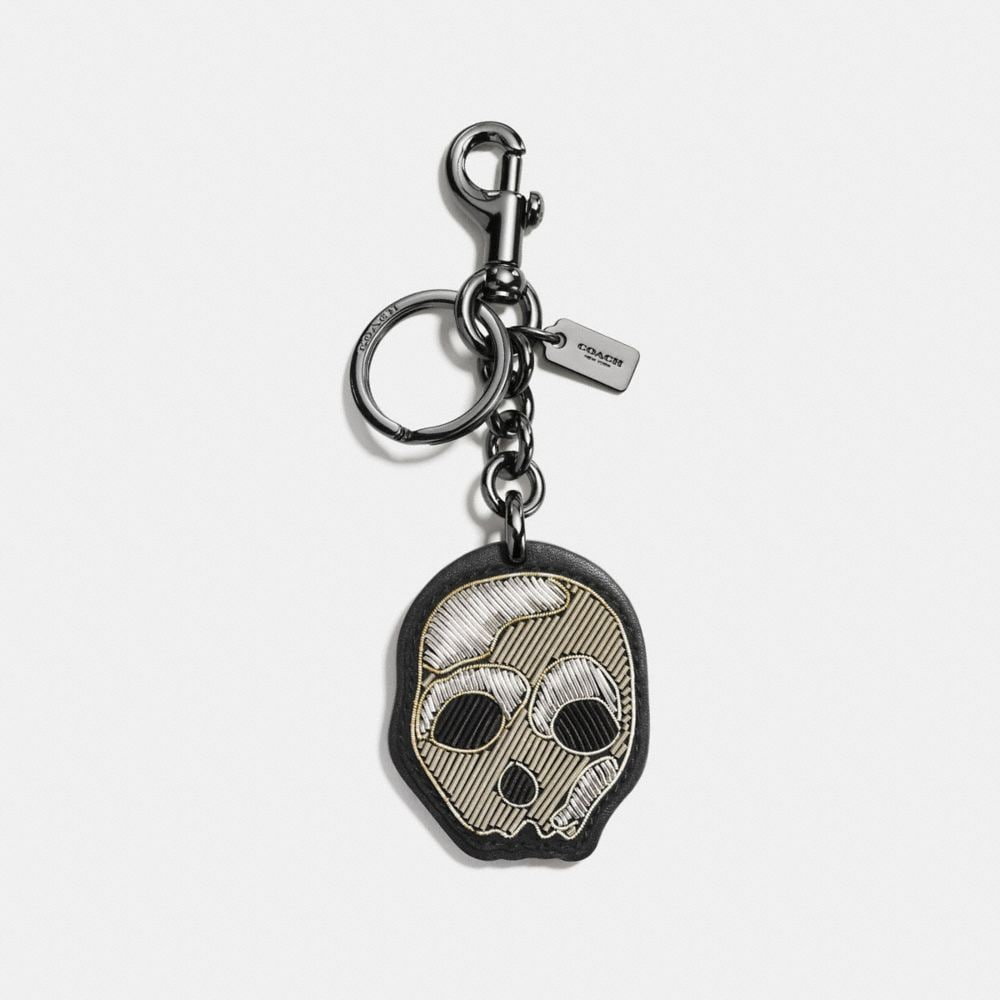 EMBROIDERED SKULL BAG CHARM