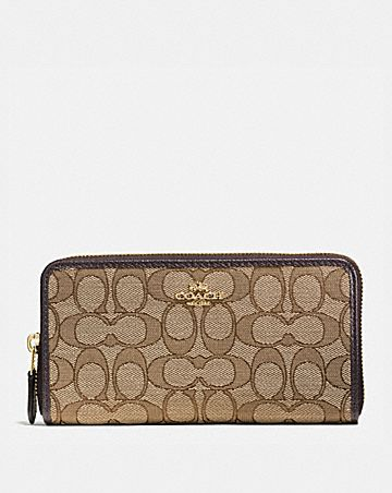 482dbe68f51 ACCORDION ZIP WALLET IN SIGNATURE JACQUARD ...