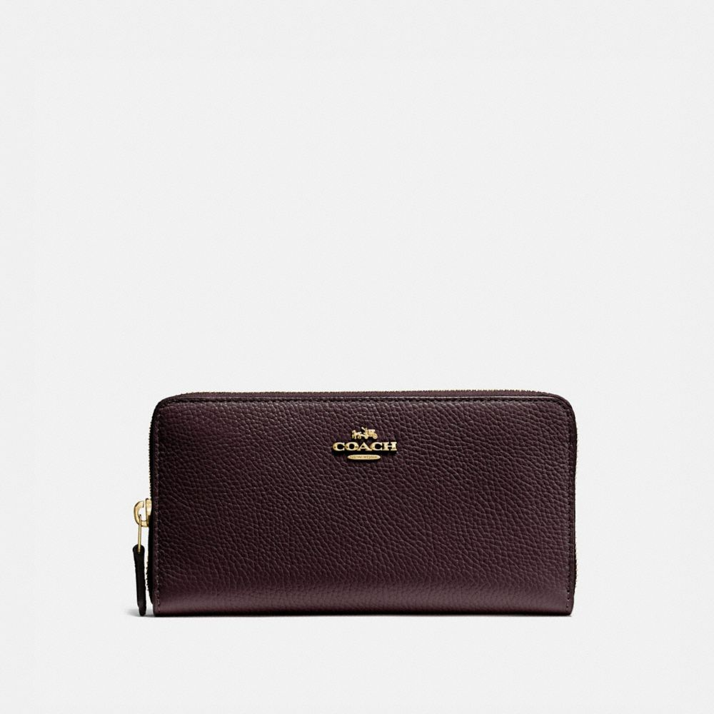 ACCORDION ZIP WALLET IN POLISHED PEBBLE LEATHER