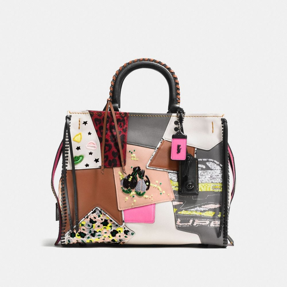 ROGUE IN EMBELLISHED PATCHWORK MIXED MATERIALS