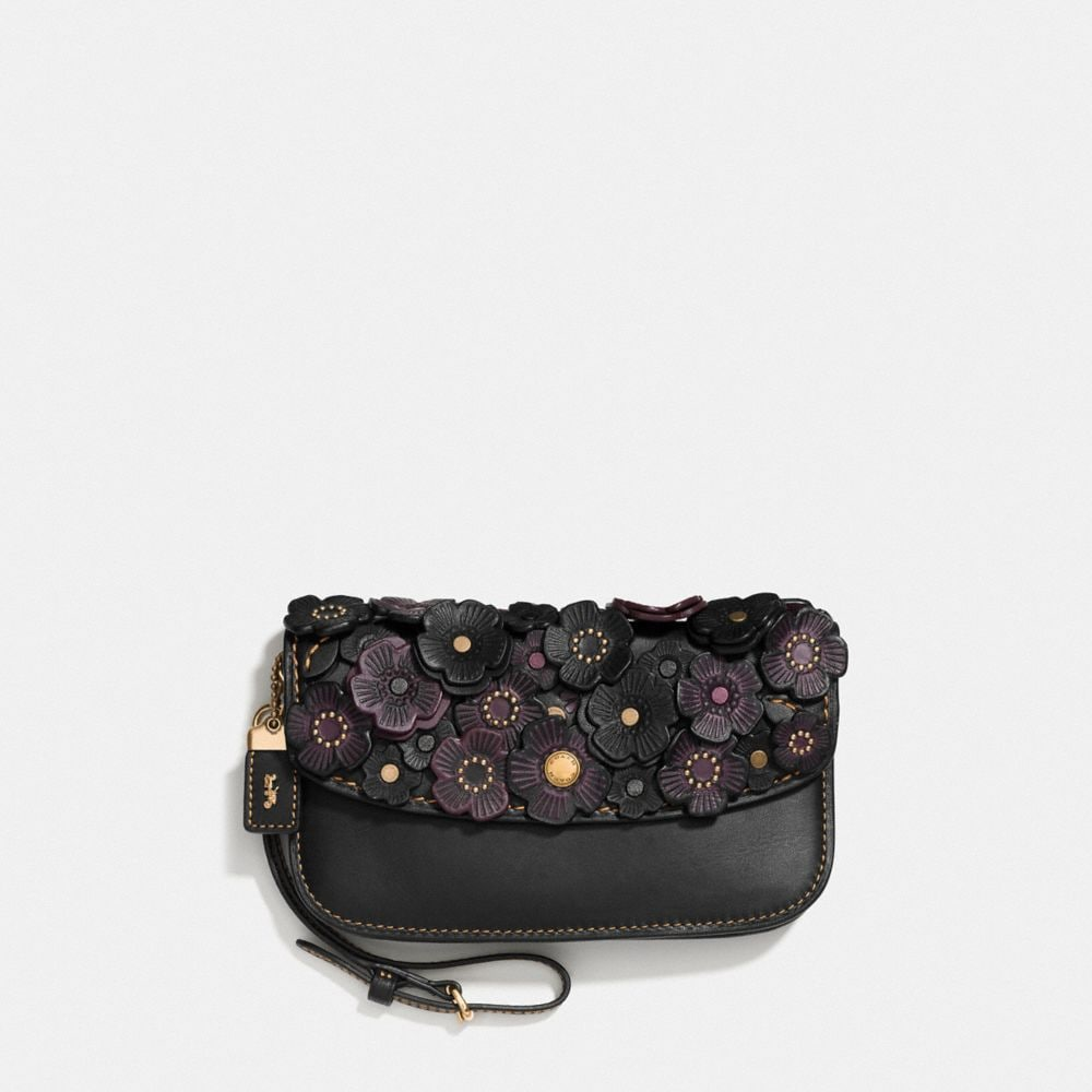 SMALL CLUTCH IN GLOVETANNED LEATHER WITH TEA ROSE