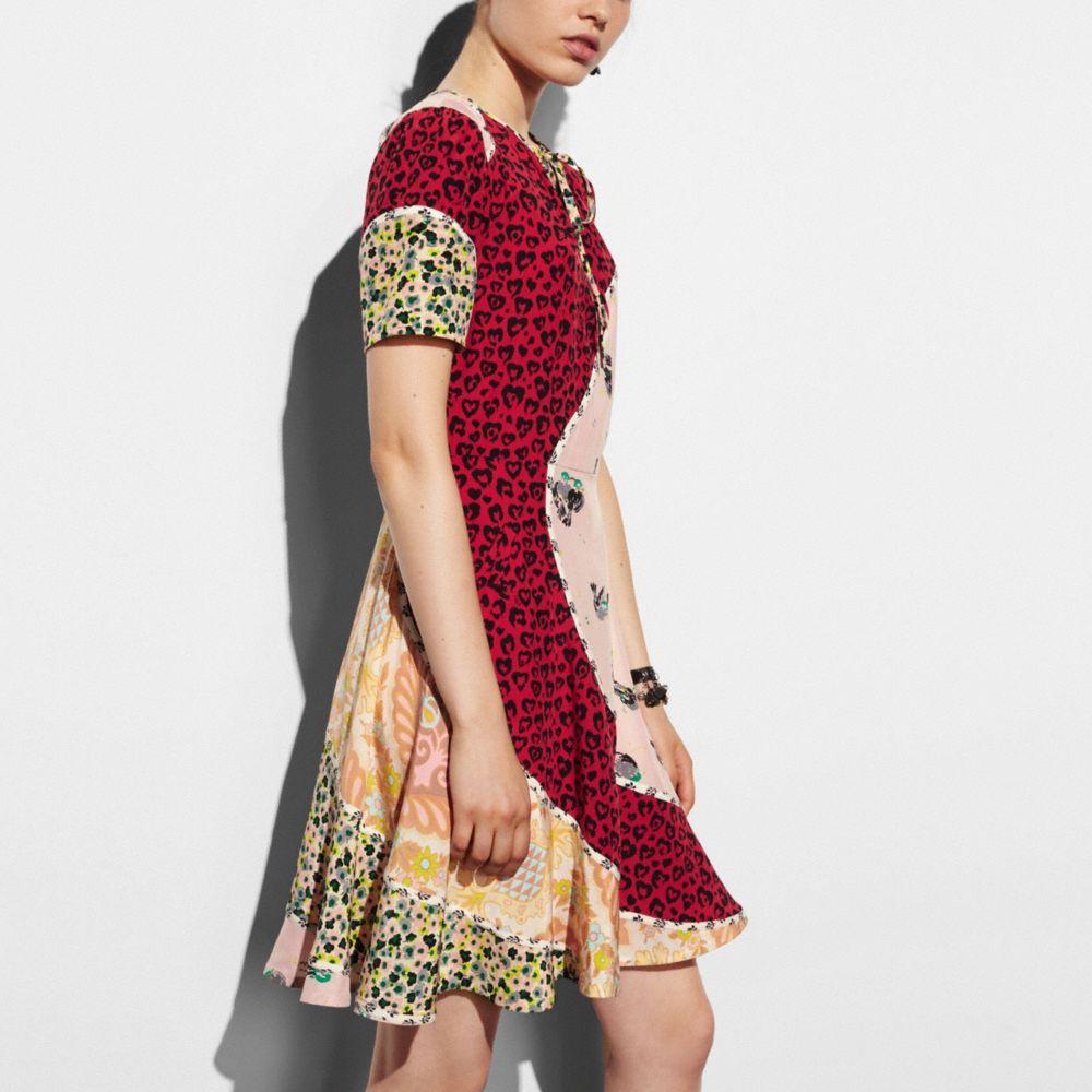 CIRCULAR PATCHWORK DRESS