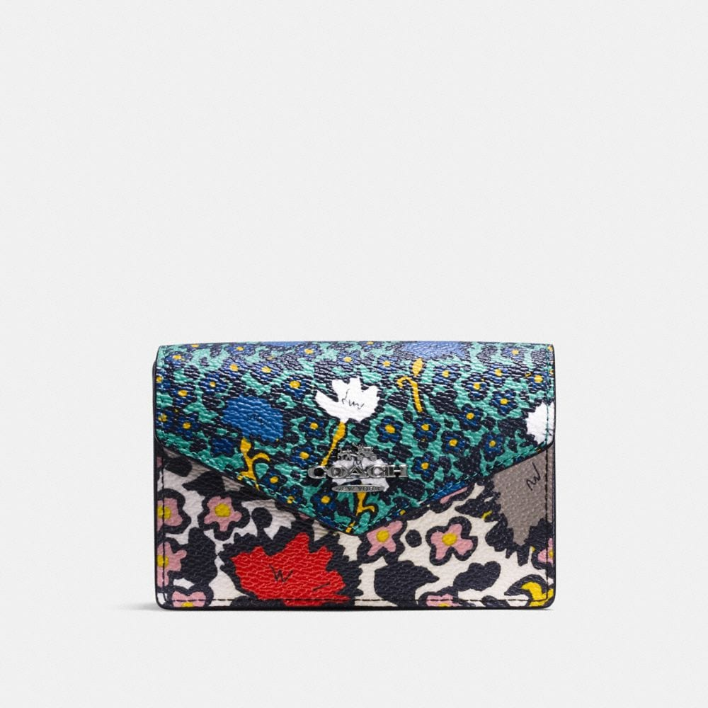 ENVELOPE CARD CASE IN YANKEE FLORAL PRINT CANVAS