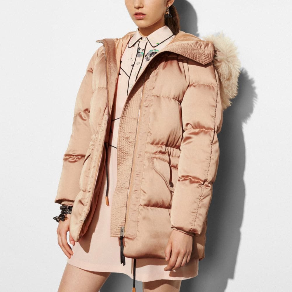 ICON PUFFER PARKA WITH SHEARLING