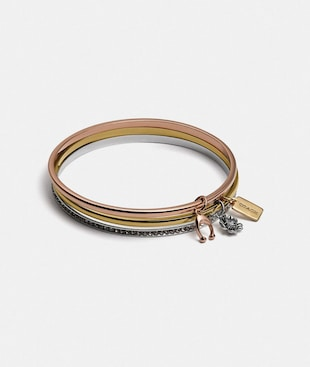 COACH SIGNATURE BANGLE SET