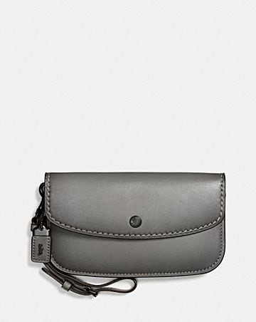 Cross Body Bags - Crossbody Clutch WIth Prairie Rivets Heather Grey/Dark Gunmetal - grey - Cross Body Bags for ladies Coach jxlMS