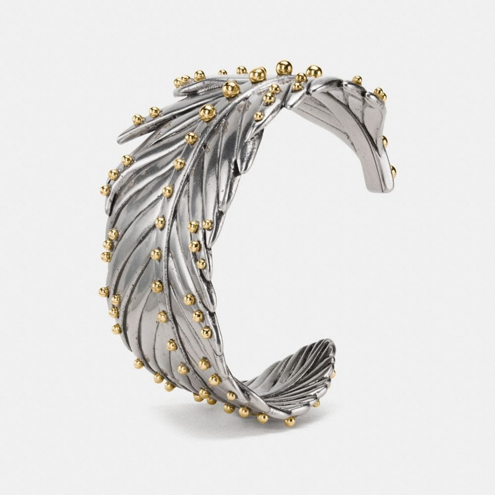 STUDDED FEATHER WRAP CUFF