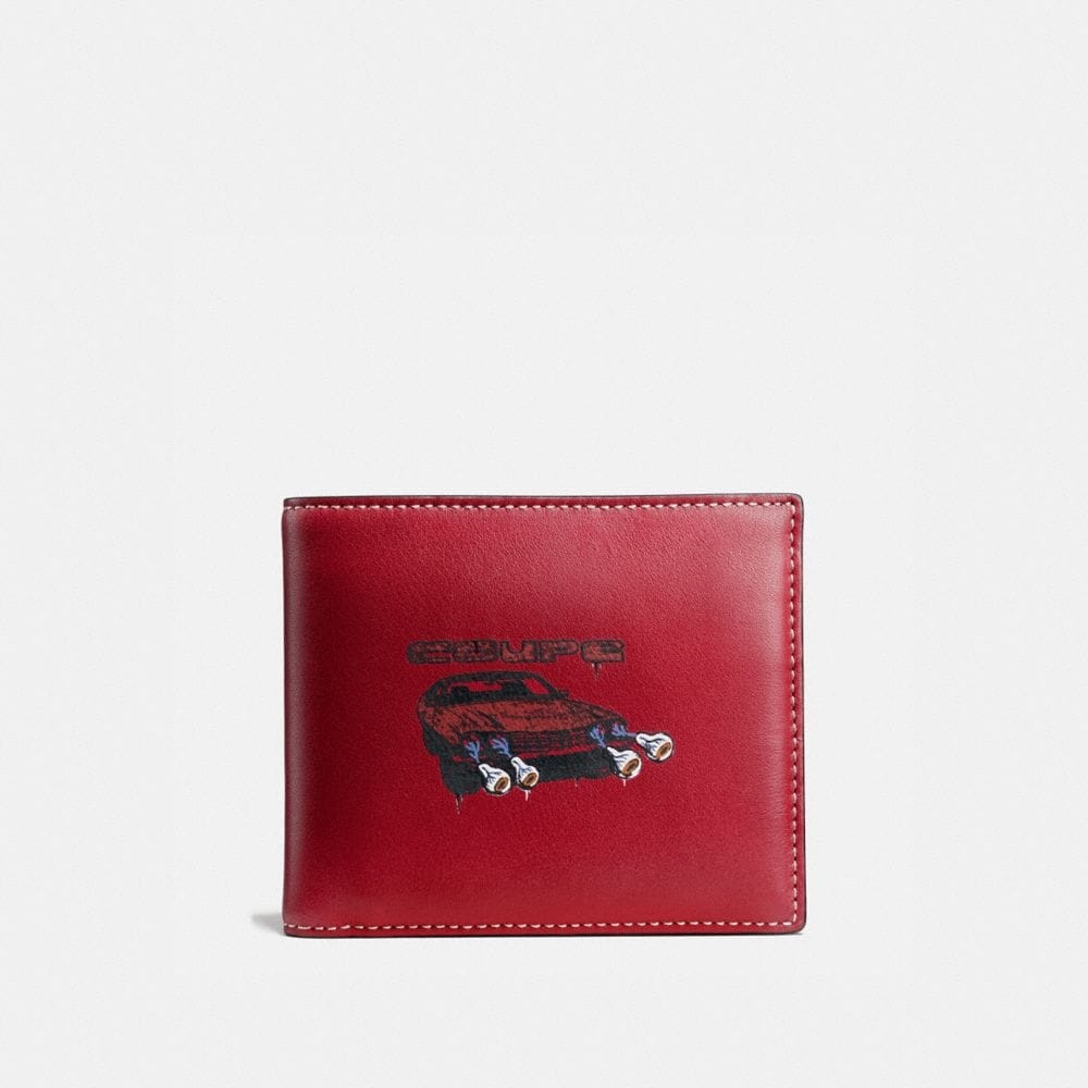 3-IN-1 WALLET IN WILD CAR PRINT LEATHER