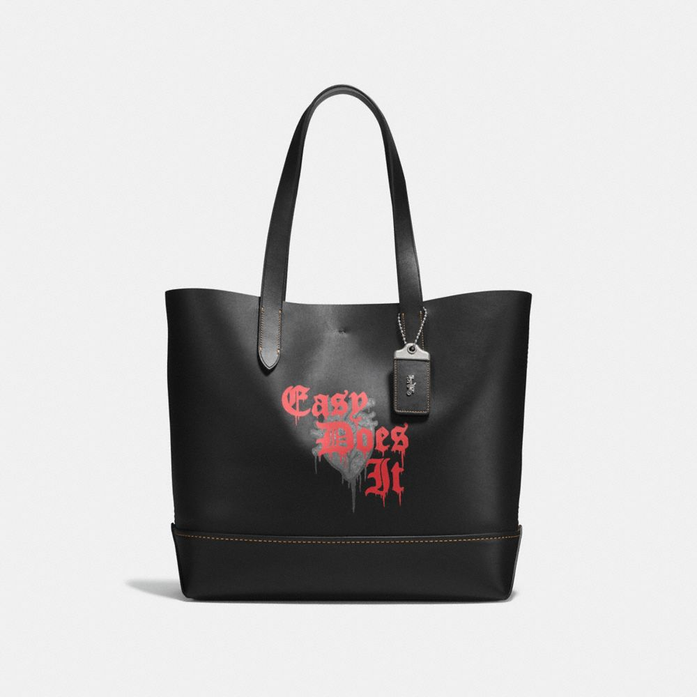 GOTHAM TOTE IN WILD LOVE PRINT LEATHER