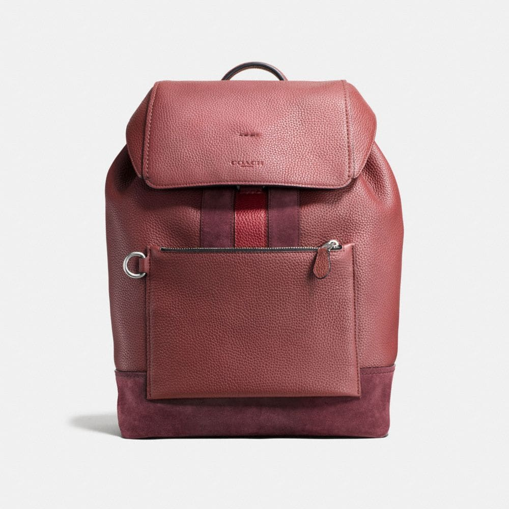 MANHATTAN BACKPACK IN REBEL VARSITY PEBBLE LEATHER
