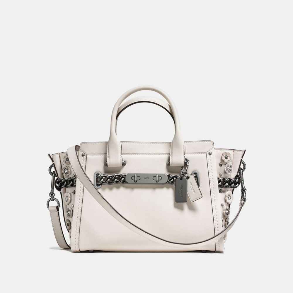 coach official online outlet bkk8  COACH SWAGGER 27 IN GLOVETANNED LEATHER WITH WILLOW FLORAL DETAIL