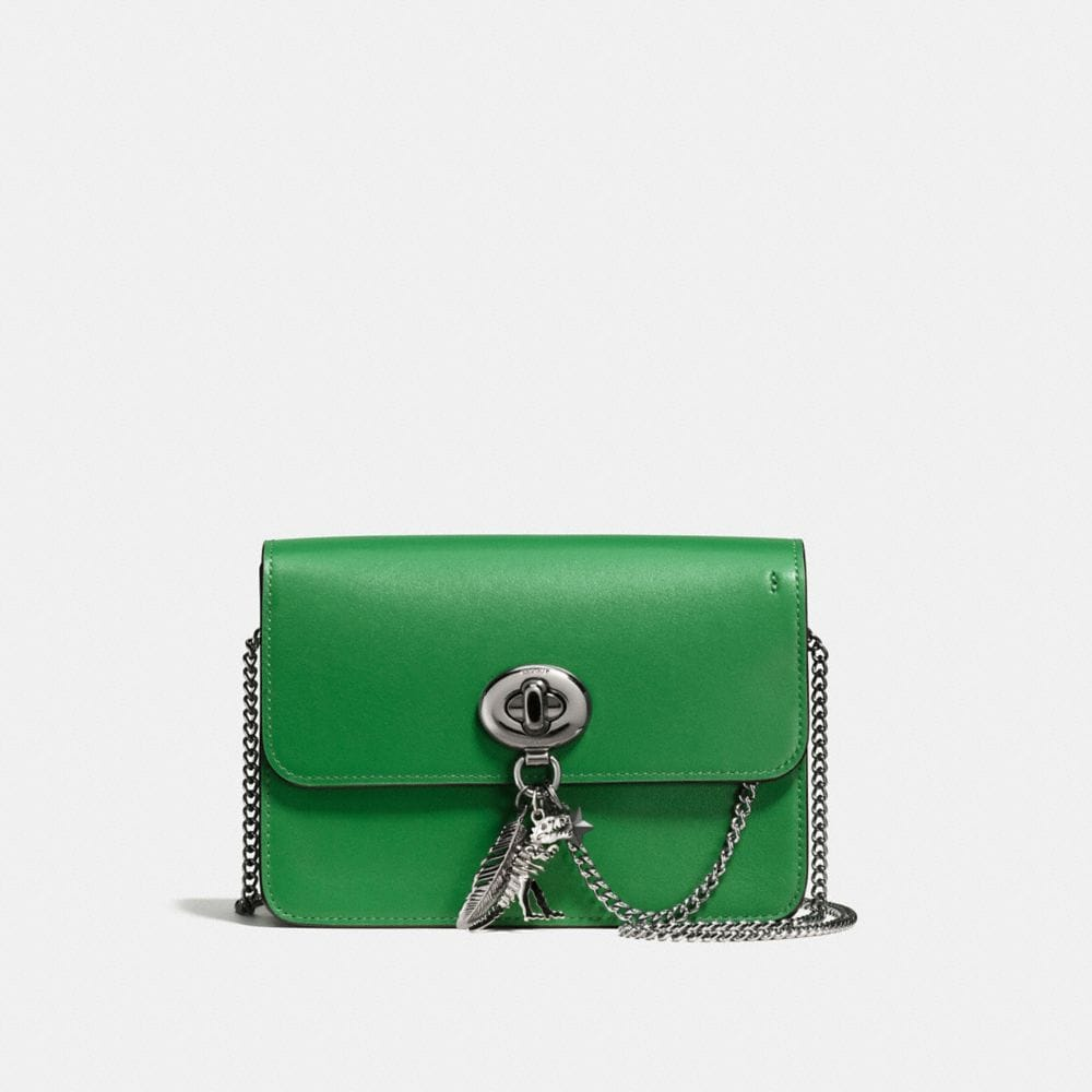 BOWERY CROSSBODY IN REFINED CALF LEATHER WITH REBEL CHARM