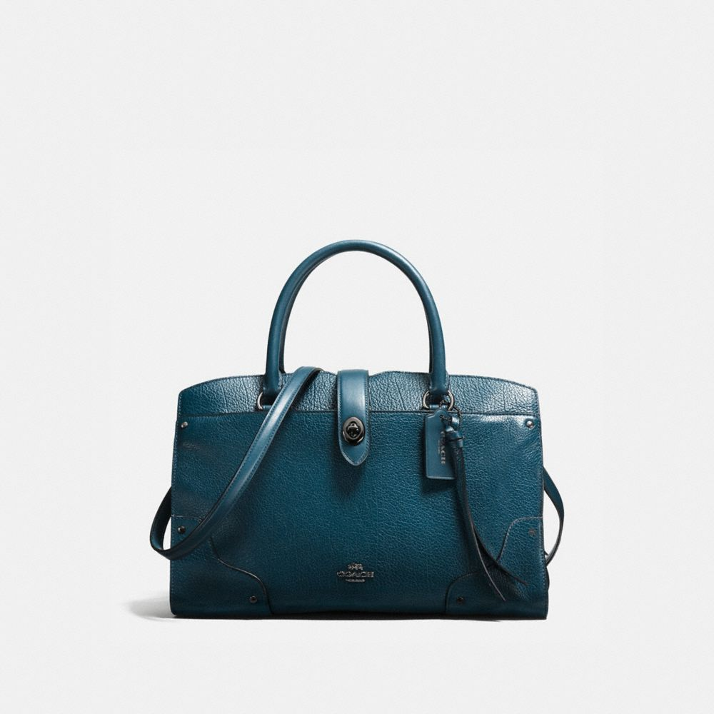 MERCER SATCHEL 30 IN MIXED LEATHERS WITH WHIPLASH DETAIL