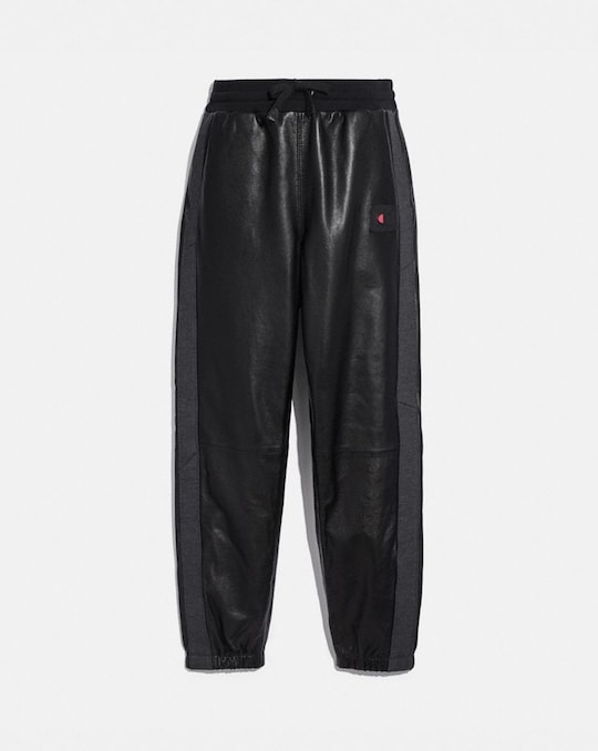 PANTALON DE SURVÊTEMENT EN CUIR COACH X CHAMPION