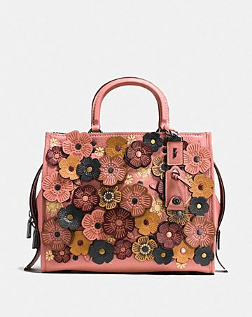 ROGUE IN PEBBLE LEATHER WITH TEA ROSE
