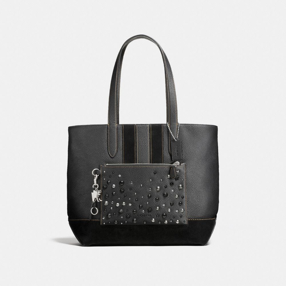 METROPOLITAN SOFT TOTE WITH STUDS
