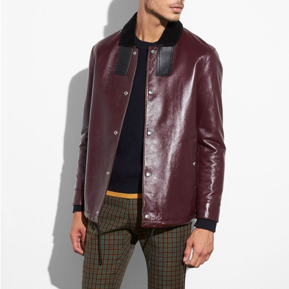 LEATHER COACH JACKET