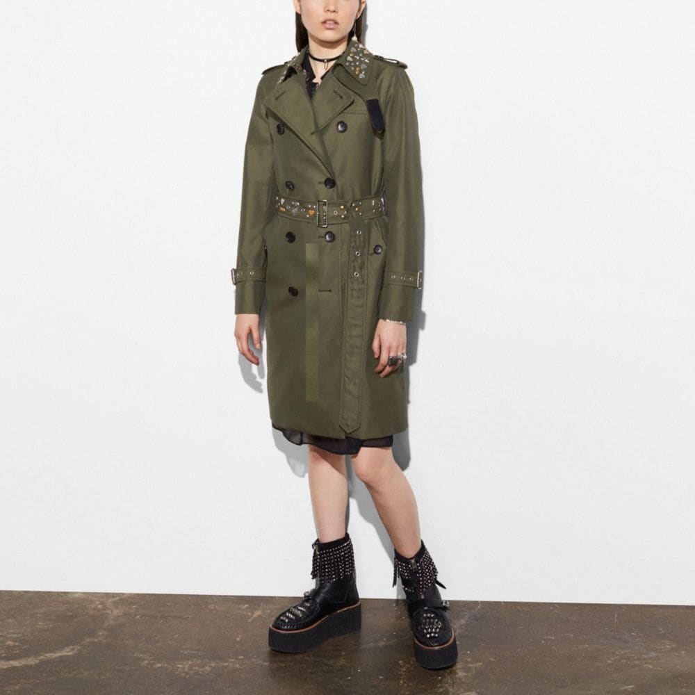 ICON TRENCH WITH RIVETS