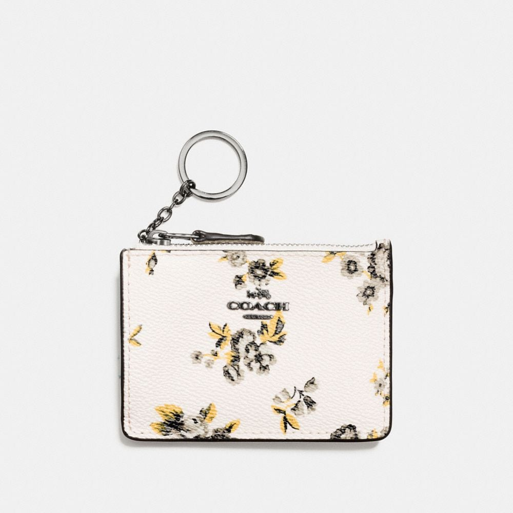 MINI SKINNY ID CASE IN PRAIRIE PRINT COATED CANVAS
