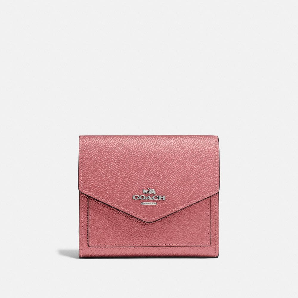 SMALL WALLET IN METALLIC LEATHER