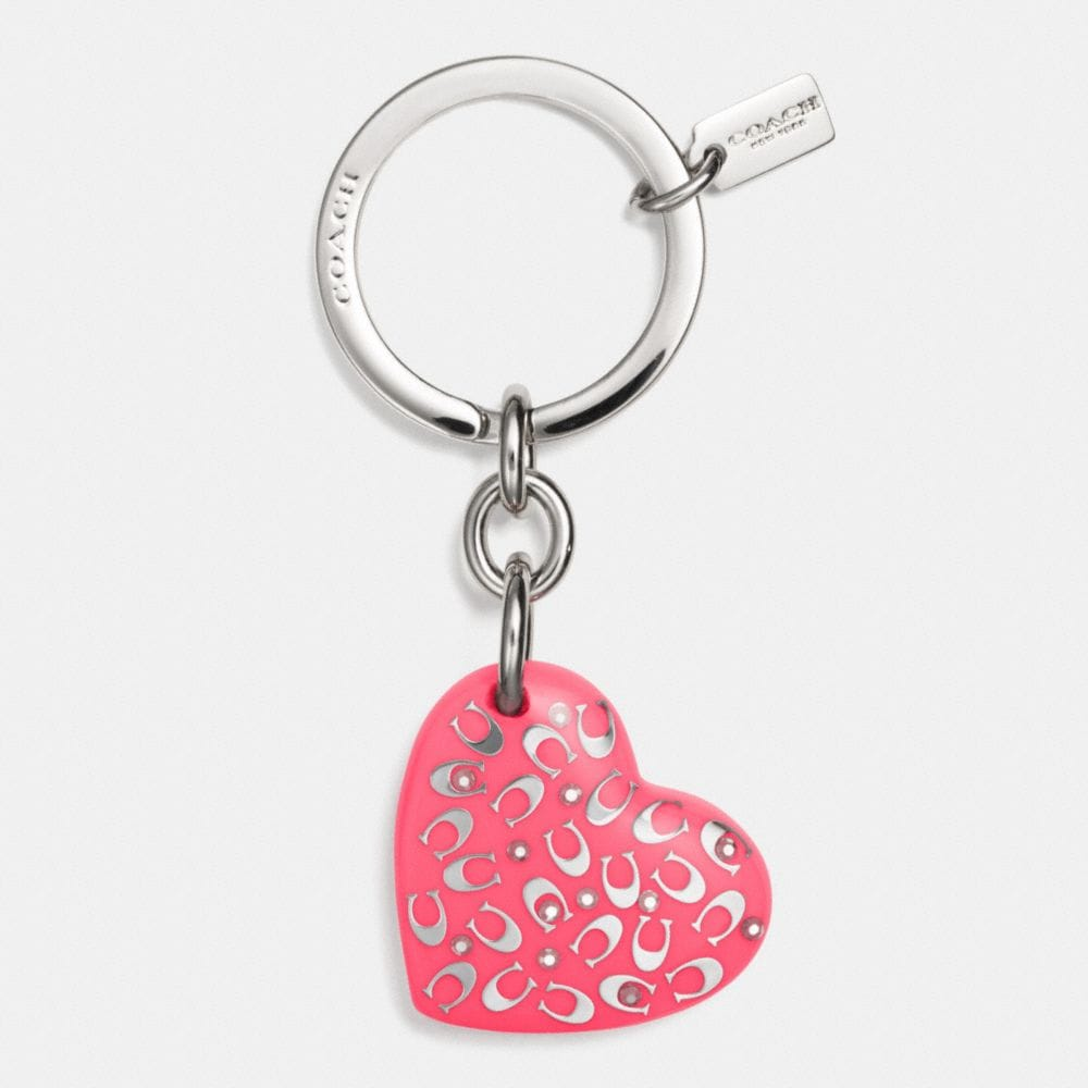 C.O.A.C.H. LUCITE HEART KEY RING