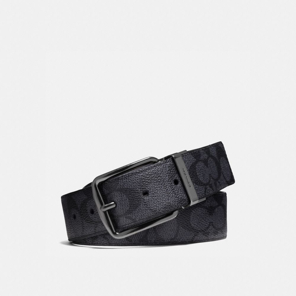 WIDE HARNESS CUT-TO-SIZE REVERSIBLE BELT IN SIGNATURE CANVAS