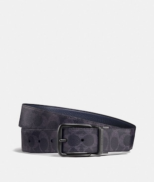 CINTURA DOUBLE FACE SARTORIALE HARNESS LARGA IN TELA SIGNATURE