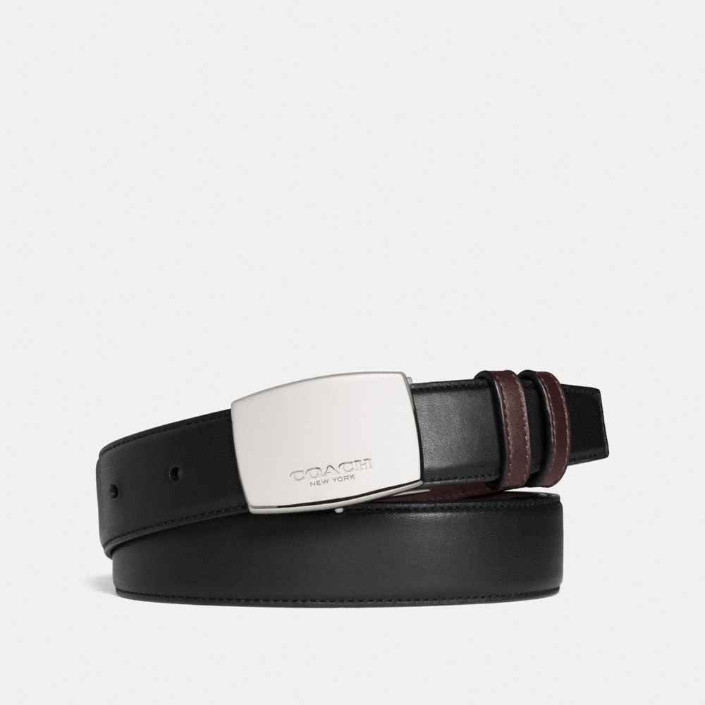 DRESS PLAQUE CUT-TO-SIZE REVERSIBLE SMOOTH LEATHER BELT