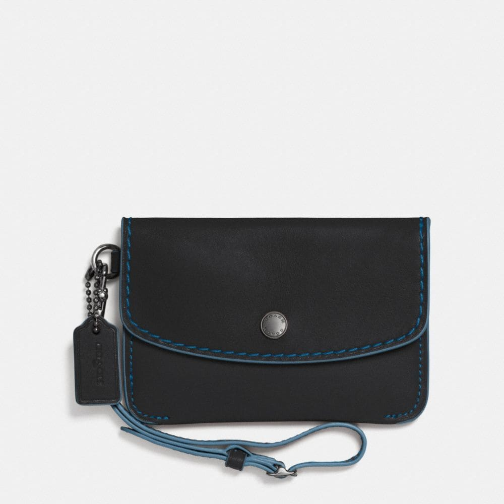 ENVELOPE KEY POUCH IN GLOVETANNED LEATHER