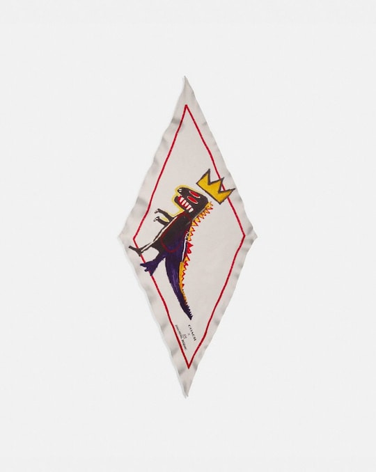COACH X JEAN-MICHEL BASQUIAT SILK DIAMOND SCARF