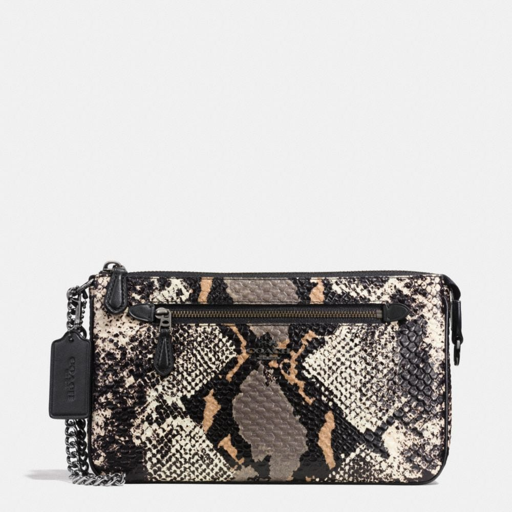 NOLITA WRISTLET 24 IN EXOTIC EMBOSSED LEATHER