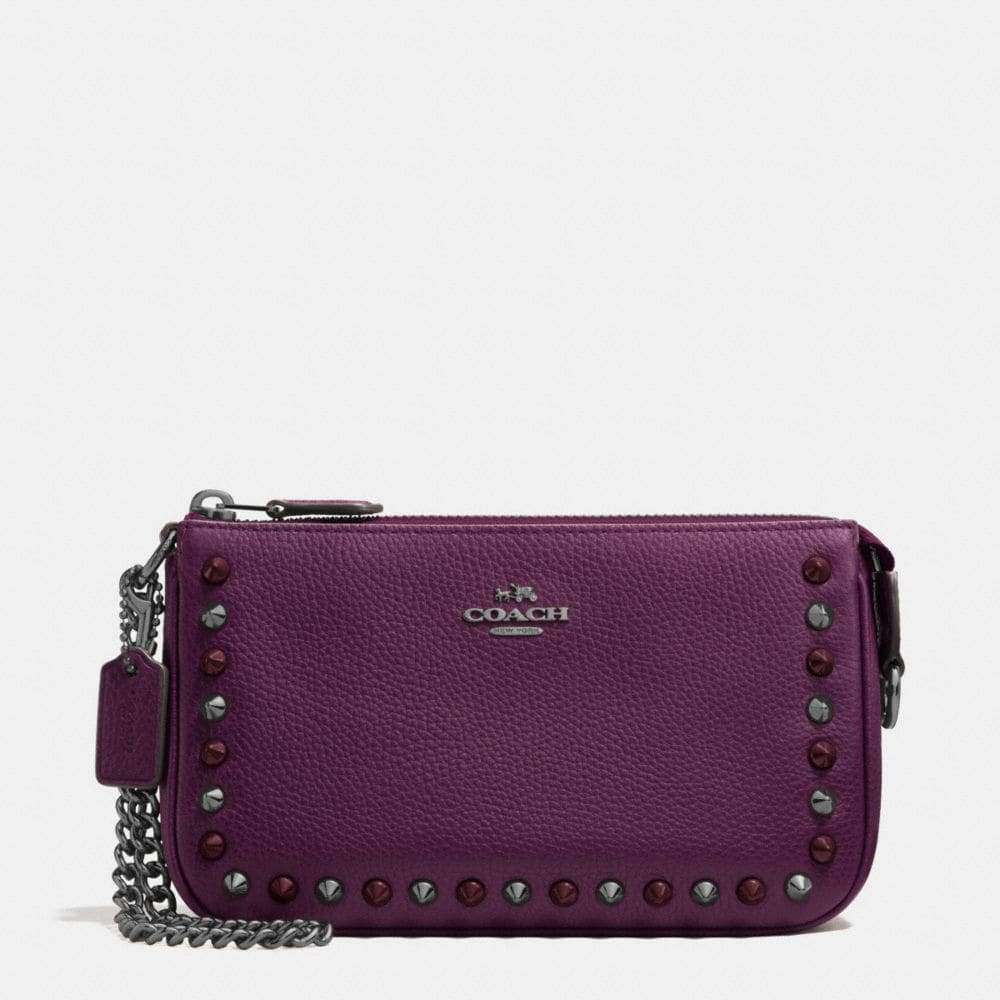 OUTLINE STUDS NOLITA WRISTLET 19 IN LEATHER