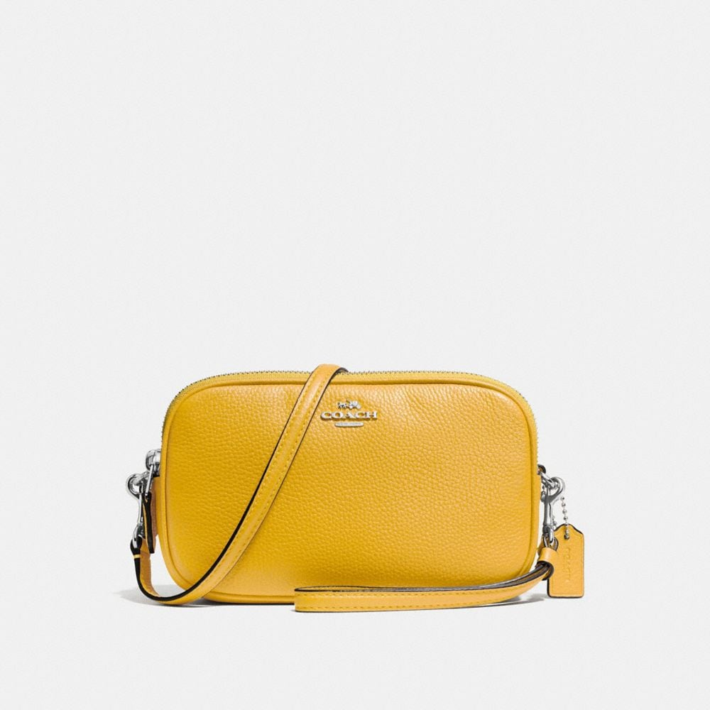CROSSBODY CLUTCH IN POLISHED PEBBLE LEATHER