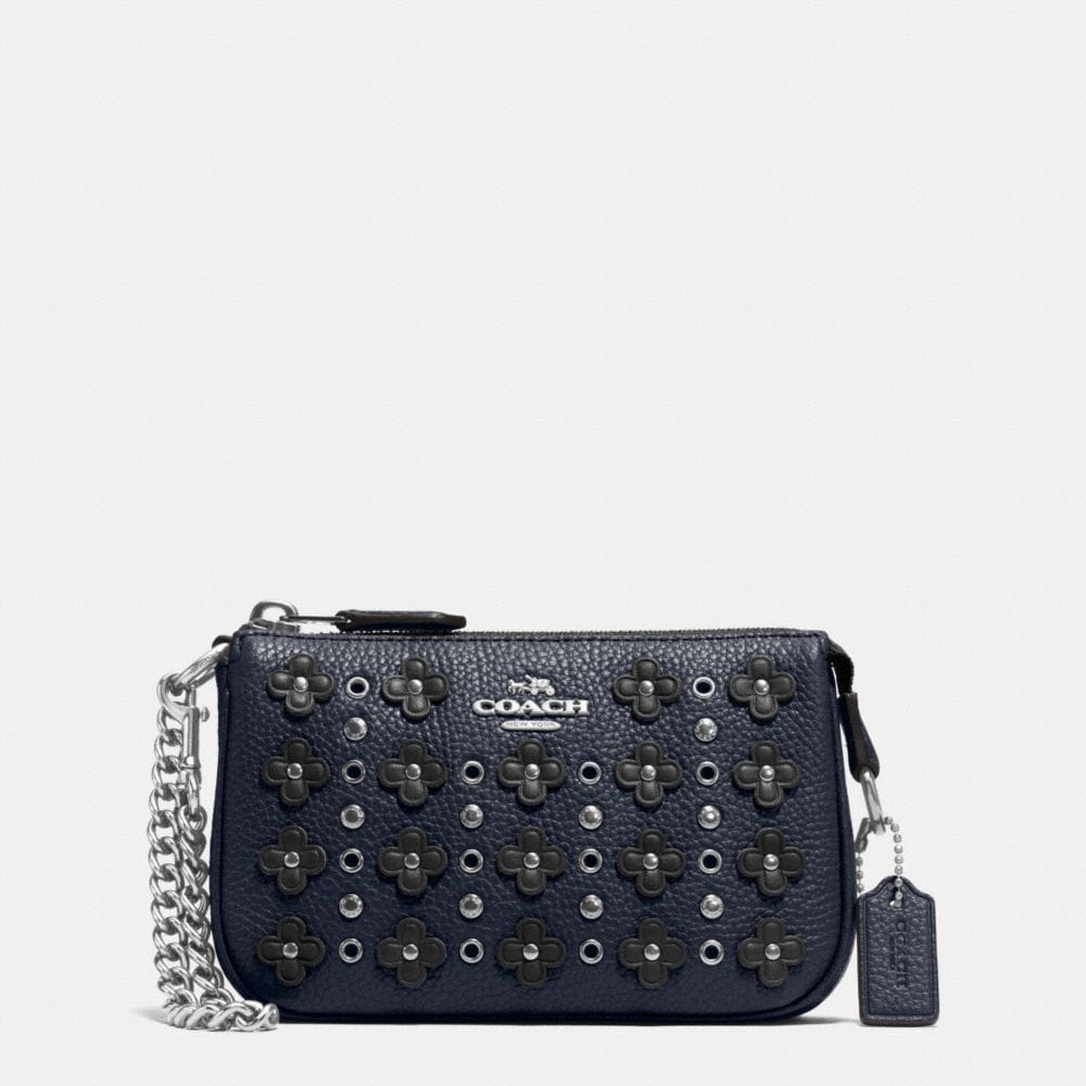 NOLITA WRISTLET 15 IN FLORAL RIVETS LEATHER