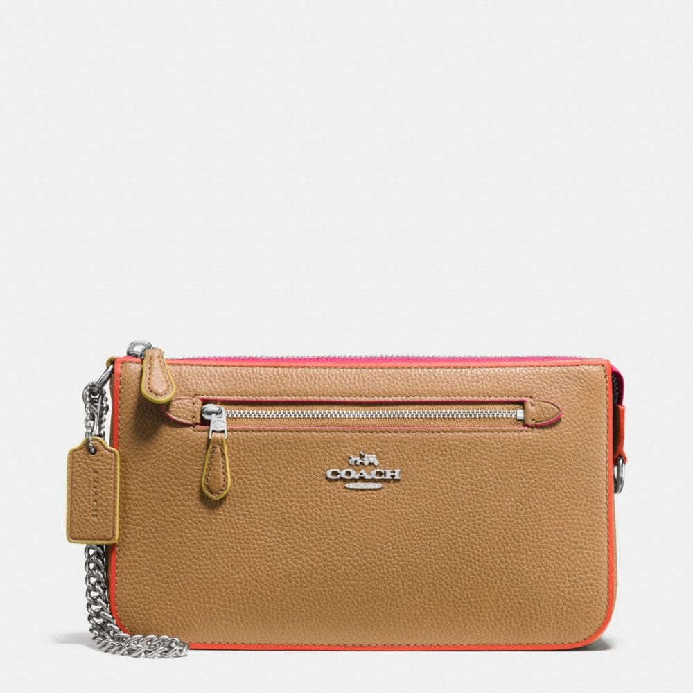 NOLITA WRISTLET 24 IN TRICOLOR EDGESTAIN LEATHER