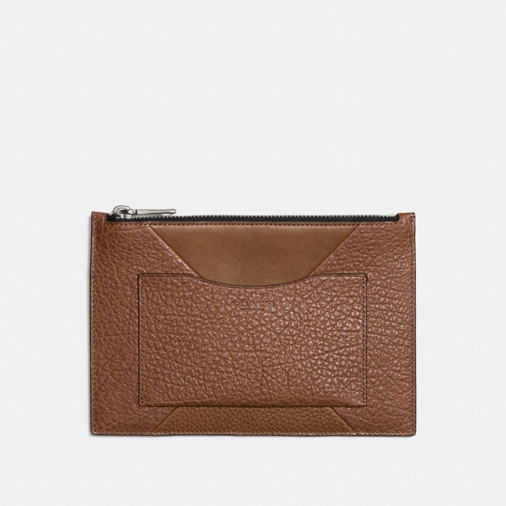 TECH ENVELOPE IN PATCHWORK LEATHER