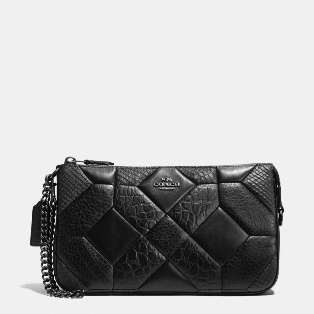 CANYON QUILT NOLITA WRISTLET 24 IN EXOTIC EMBOSSED LEATHER