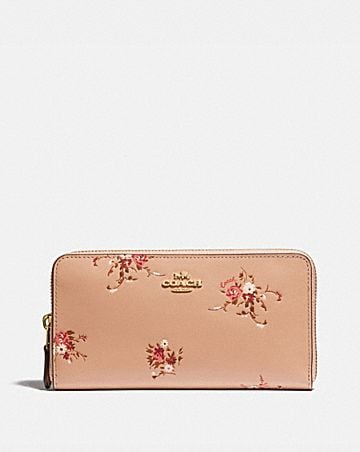 ed2ef9645e8 ACCORDION ZIP WALLET WITH FLORAL BUNDLE PRINT ...