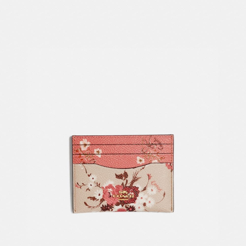 CARD CASE WITH MIXED FLORAL PRINT