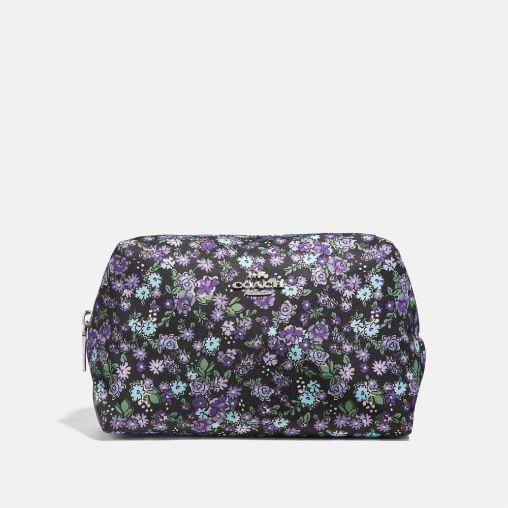 LARGE BOXY COSMETIC CASE WITH POSEY CLUSTER PRINT
